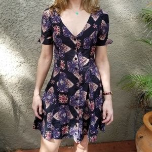 Sexy button down dress